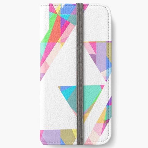 Rainbow Kaleidoscope Design iPhone Wallet