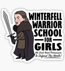 Winterfell Warrior School for Girls Sticker