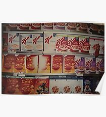Cereal Wall Photograph Design Poster