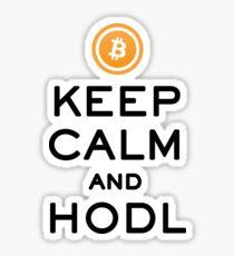 Keep Calm and HODL Bitcoin Sticker