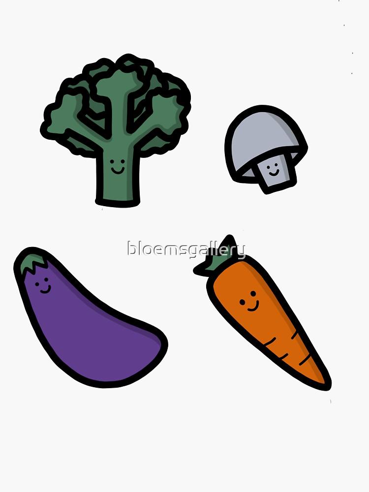 Happy Veggies Illustration by bloemsgallery