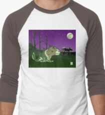 Moonlight Huntress Men's Baseball ¾ T-Shirt