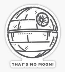 thats no moon! Sticker