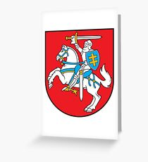 Lithuania Coat of Arms Greeting Card