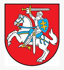 Lithuania Coat of Arms Photographic Print