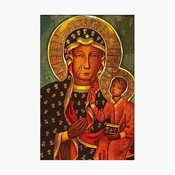 Black Madonna/Our Lady of Czestochowa Photographic Print