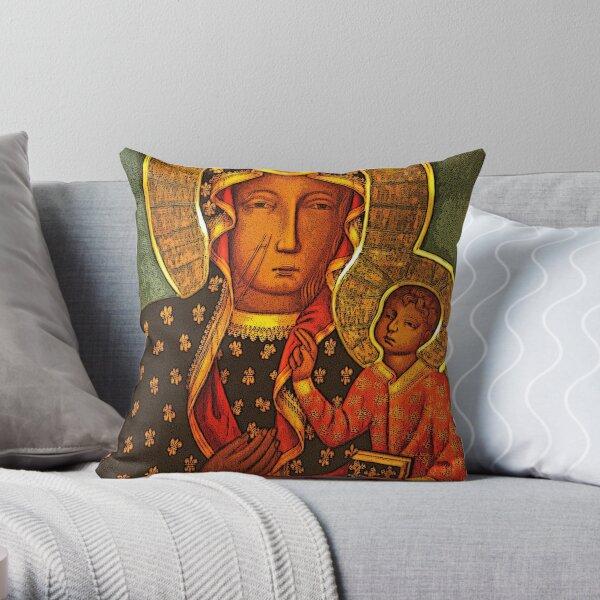 Black Madonna/Our Lady of Czestochowa Throw Pillow