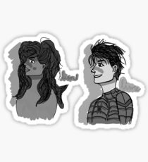 Spider-Man and MJ (black and white) Sticker