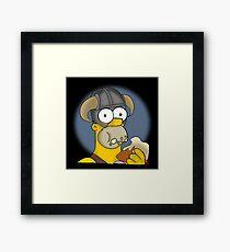 Homer Simpson - Sweet Roll Framed Print