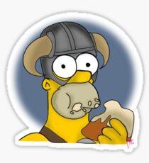 Homer Simpson - Sweet Roll Sticker