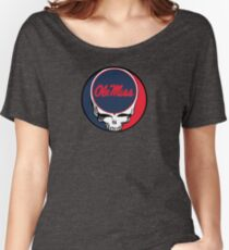 Ole Miss - Grateful Dead 'Steal Your Face' Women's Relaxed Fit T-Shirt
