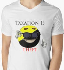 Taxation Is Theft - Ancap Men's V-Neck T-Shirt