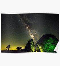 Milky Way Rock Climbing Poster