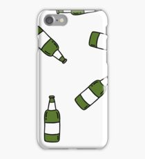 beer seamless doodle pattern iPhone Case/Skin