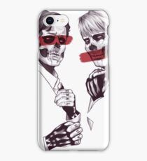 Skeleton Murder Husbands (Red) iPhone Case/Skin