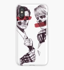 Skeleton Murder Husbands (Red) iPhone Case/Skin