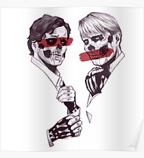 Skeleton Murder Husbands (Red) Poster