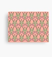 Pink Baphomet Damask Canvas Print