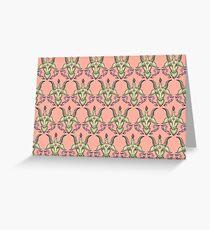 Pink Baphomet Damask Greeting Card