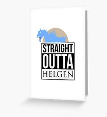 Straight Outta Helgen Greeting Card