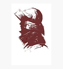Sallet Knight in Red Photographic Print