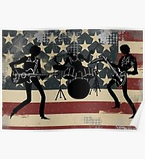 American Rock Band Poster
