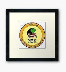 KEK seal of approval Memetic satis mentibus obvia Framed Print