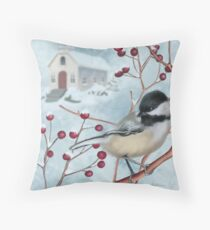 Winter Scene I Throw Pillow