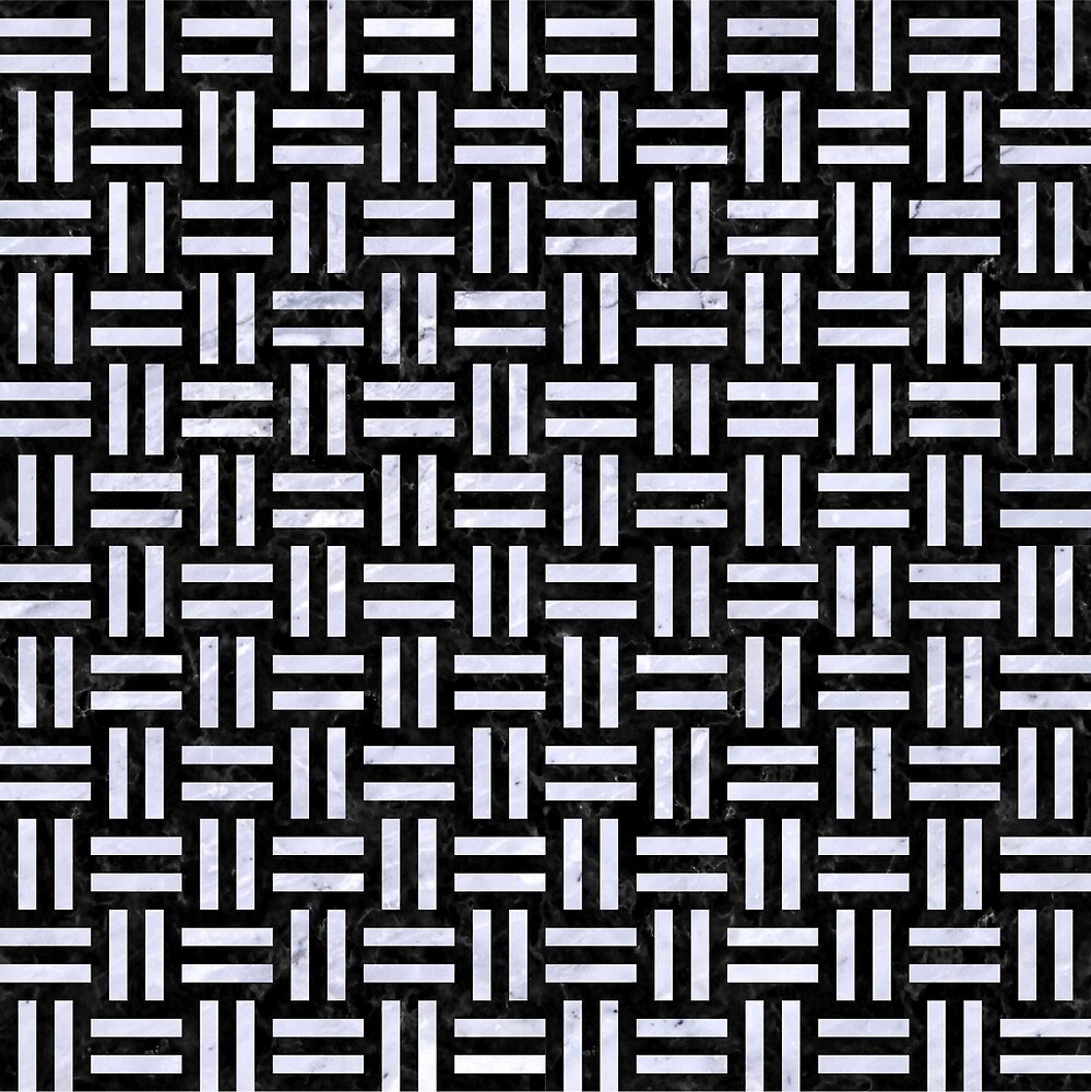 WOVEN1 BLACK MARBLE AND WHITE MARBLE by johnhunternance