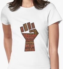 Liberate feminist power to the people fist Womens Fitted T-Shirt