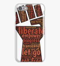 Liberate feminist power to the people fist iPhone Case/Skin