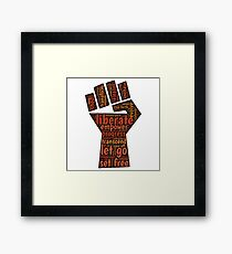 Liberate feminist power to the people fist Framed Print