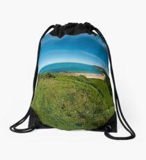 Kinnagoe Bay (as half a planet :-) Drawstring Bag