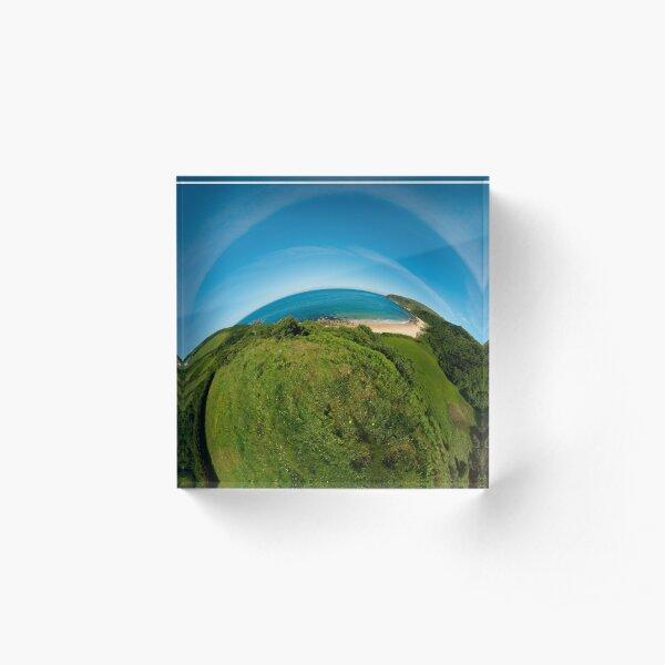 Kinnagoe Bay (as half a planet :-) Acrylic Block