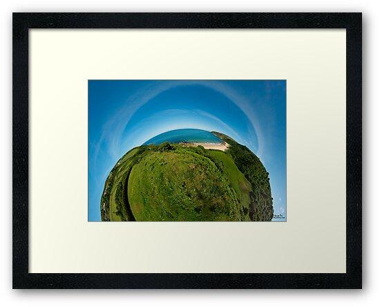 Kinnagoe Bay (as half a planet :-) by George Row