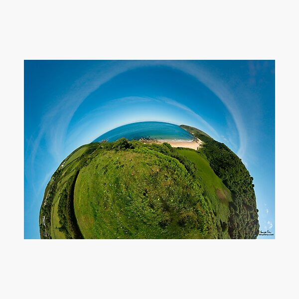 Kinnagoe Bay (as half a planet :-) Photographic Print