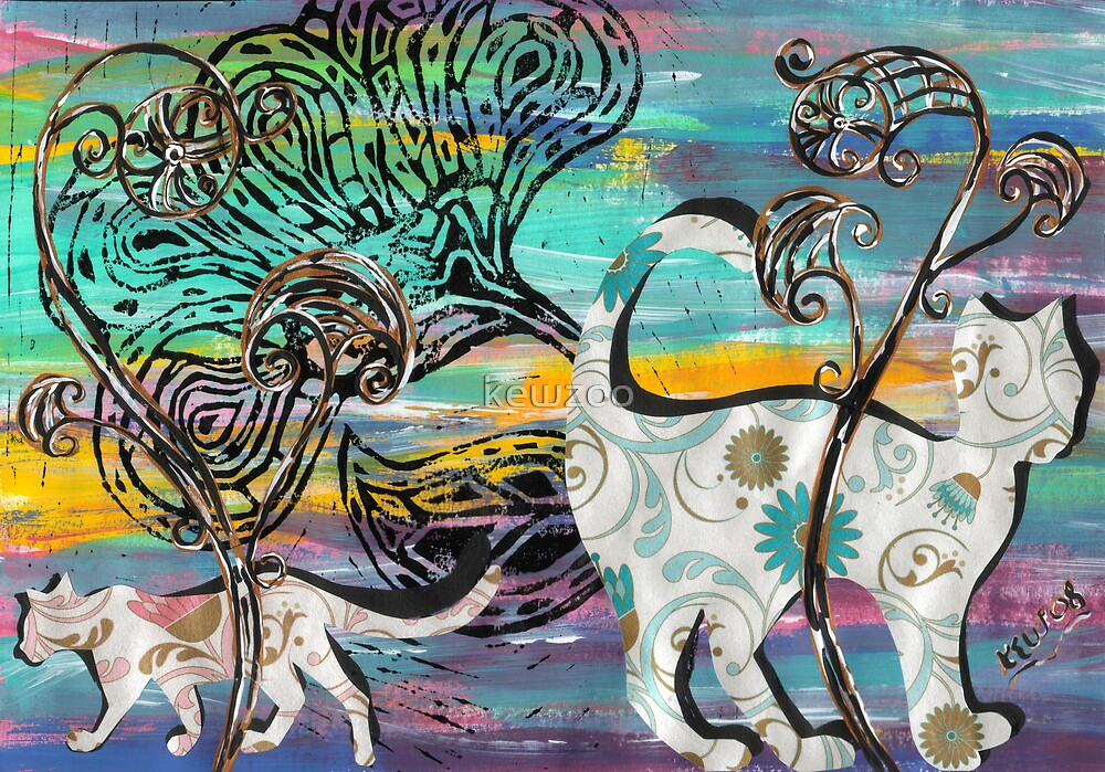 Wandering Cats by kewzoo