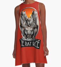 Welcome to the Rat Race - Just For Fun A-Line Dress