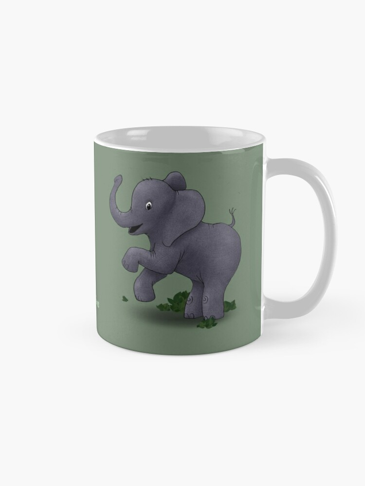 Alternate view of Two Moods of Elephant Mug