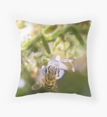 Pollenated Bee Throw Pillow