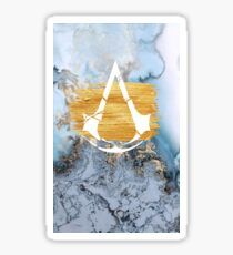 Assassin's Creed - Yellow Marble Print Design Sticker