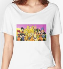 dragonball goku collage Women's Relaxed Fit T-Shirt