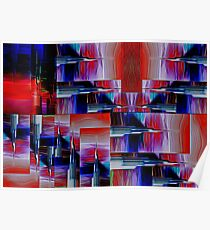 Needlepoint Abstract Poster