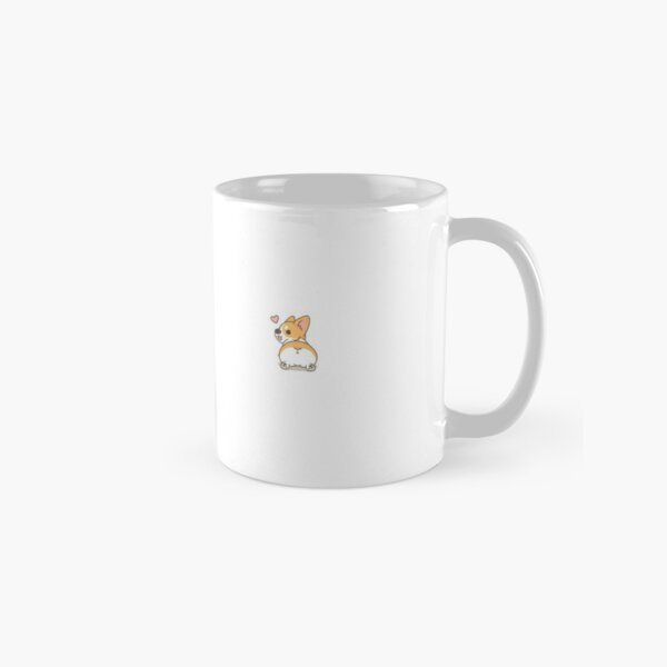Fluffy Cute Corgi Butt Classic Mug