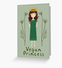 Vegan Princess Greeting Card