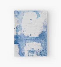 Blue Watercolor Streak ~ Abstract Painting Hardcover Journal