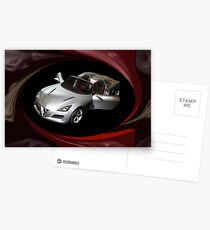 ¸.•*´♥`*•. PROTO TYPE CAR ALFA ROMEO CAR @ DETROIT CAR SHOW PILLOW,TOTE BAG,PICTURE ECT ¸.•*´♥`*•. Postcards