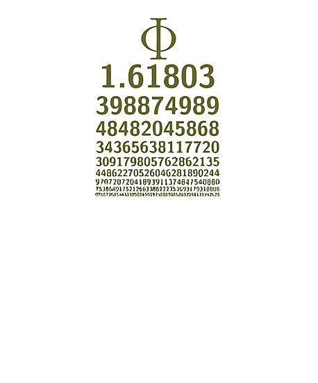 1618 Phi Golden Ratio Symbol Sacred Spiral Math Lovers