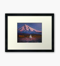 Evening Sail Columbia River Framed Print