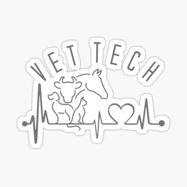 Vet Tech Retriever Heartbeat Lifeline Car Sticker Decal Car Azbetter